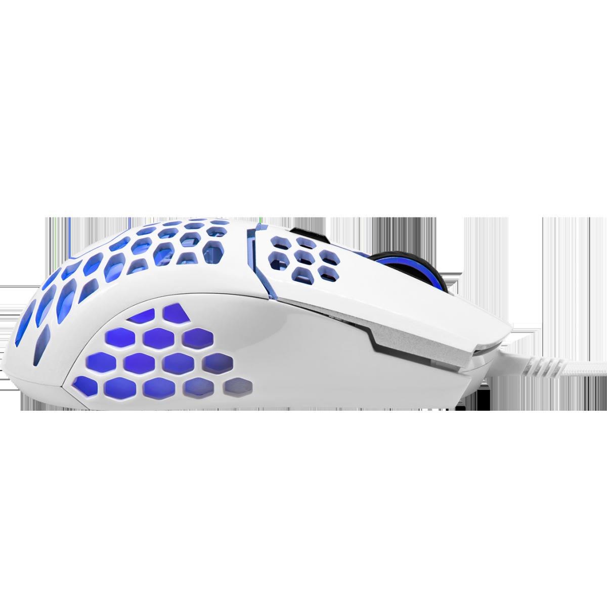 Mouse Gamer Cooler Master MM-711, 16000 DPI, 6 Botões Programáveis, Com Fio, Glossy White, MM-711-WWOL2
