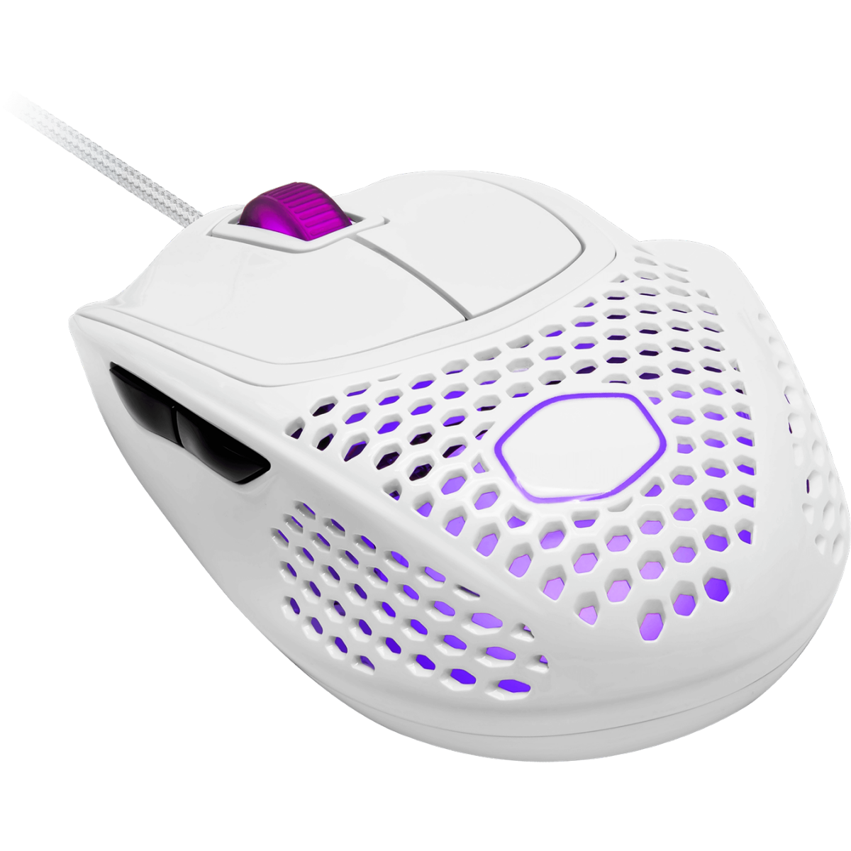Mouse Gamer Cooler Master MM720, 16.000 DPI, 6 Botões, RGB, Glossy White, MM-720-WWOL2