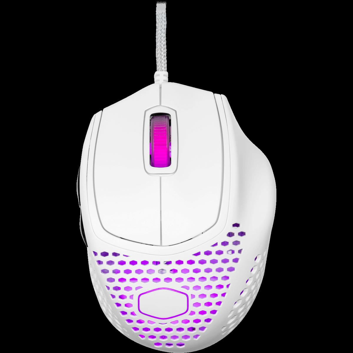 Mouse Gamer Cooler Master MM720, 16.000 DPI, 6 Botões, RGB, Matte White, MM-720-WWOL1