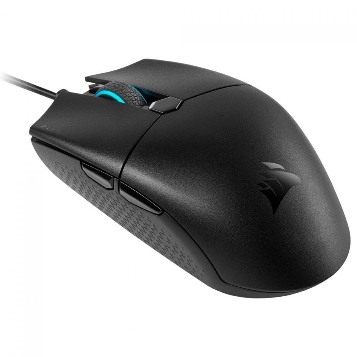 Mouse Gamer Corsair Katar Pro, 12400 DPI, 6 Botões, RGB, Black, CH-930C011-NA