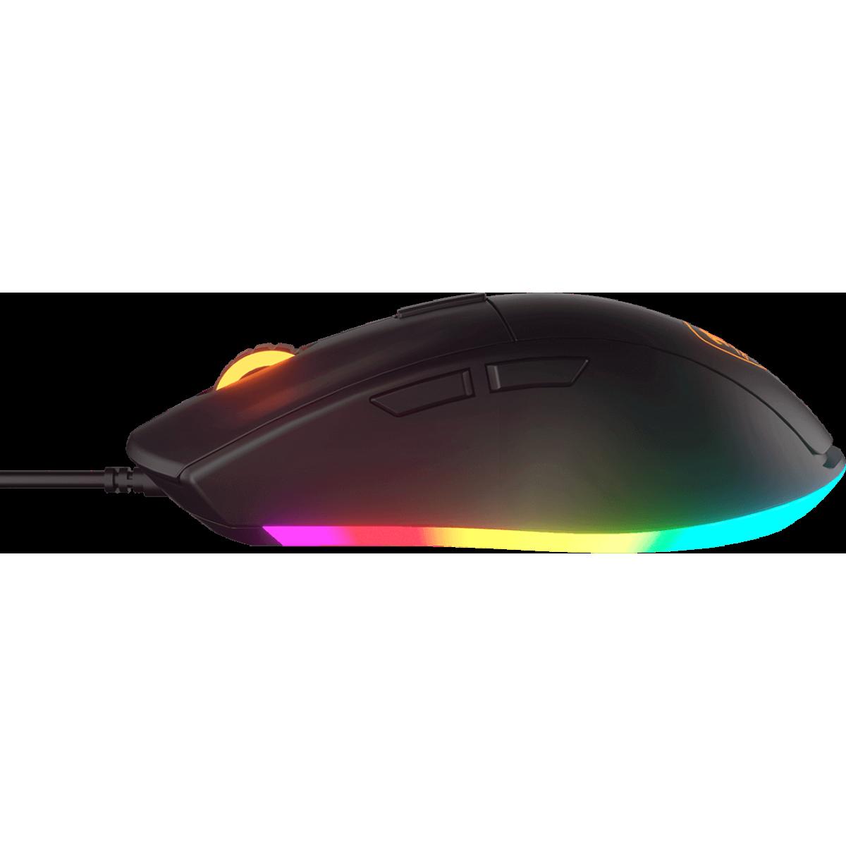 Mouse Gamer Cougar Minos XT, 6 Botões Programáveis, 3200 DPI, RGB, Preto, CGR-MINOS XT