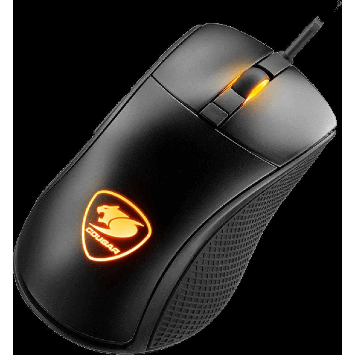 Mouse Gamer Cougar Surpassion 3MSURWOB.0001 7200 DPI RGB Preto
