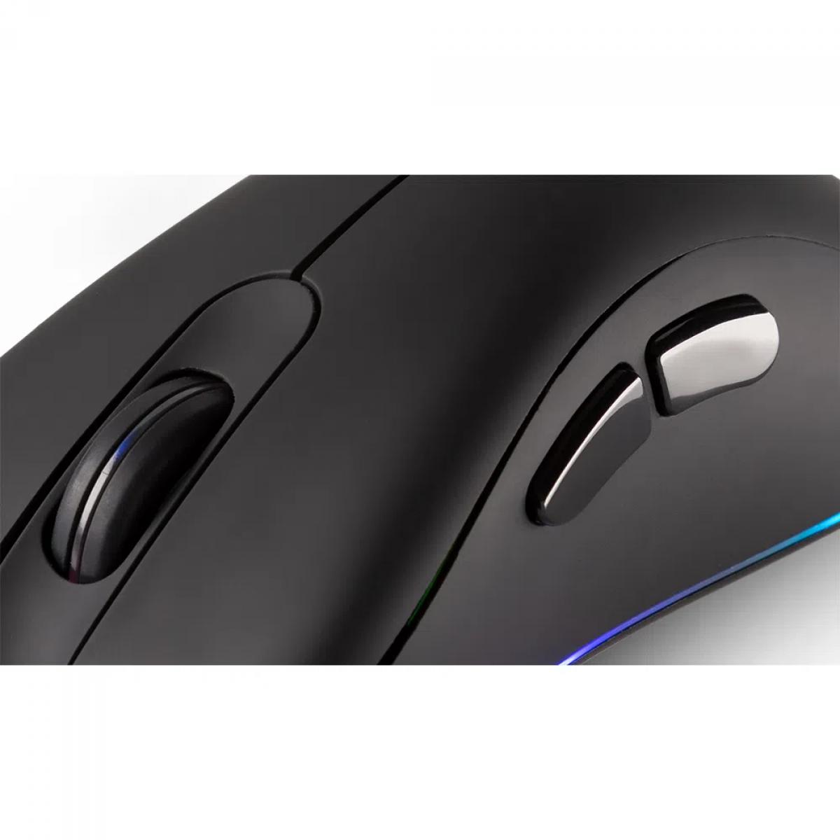 Mouse Gamer Dazz FPS Series, 12000 DPI, RGB, 2 Botões Programáveis, Black