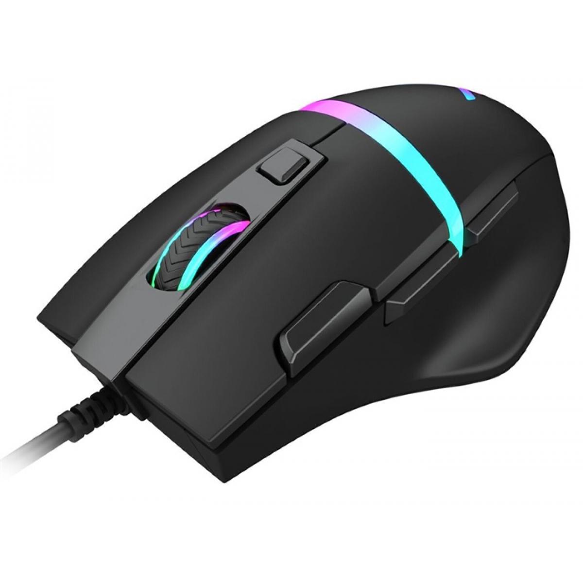Mouse Gamer Dazz Legacy RGB, 6400 DPI, 3 Botões Programáveis, Black