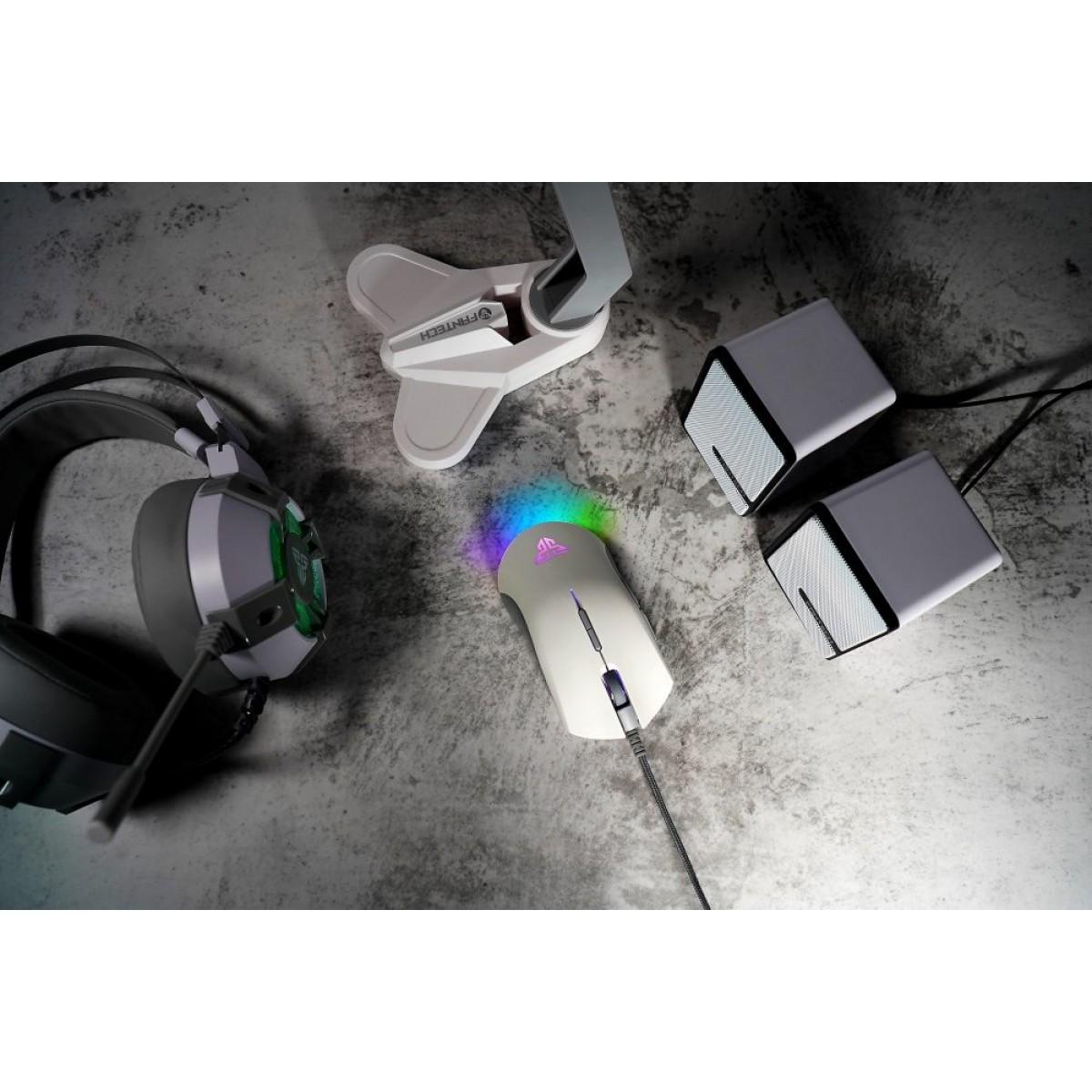 Mouse Gamer Fantech Blake X17 Edição Space, 10.000 DPI, 8 Botões, RGB, White