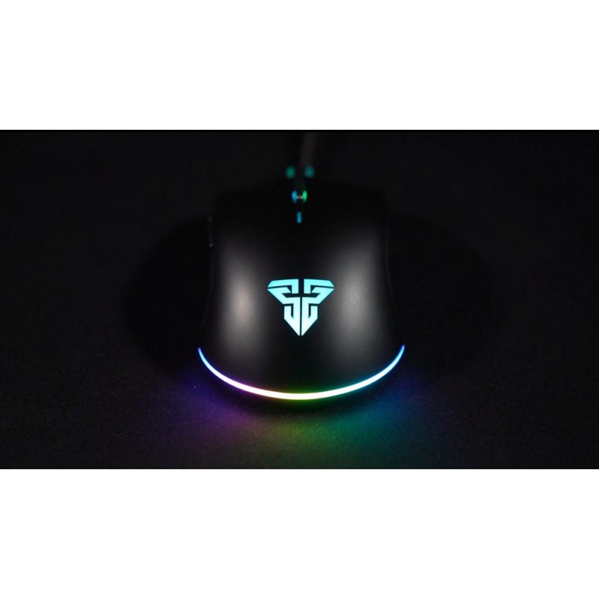 Mouse Gamer Fantech Blake X17 Pro, 12.000 DPI, Sensor Pixart 3360, 8 Botões, RGB, Black