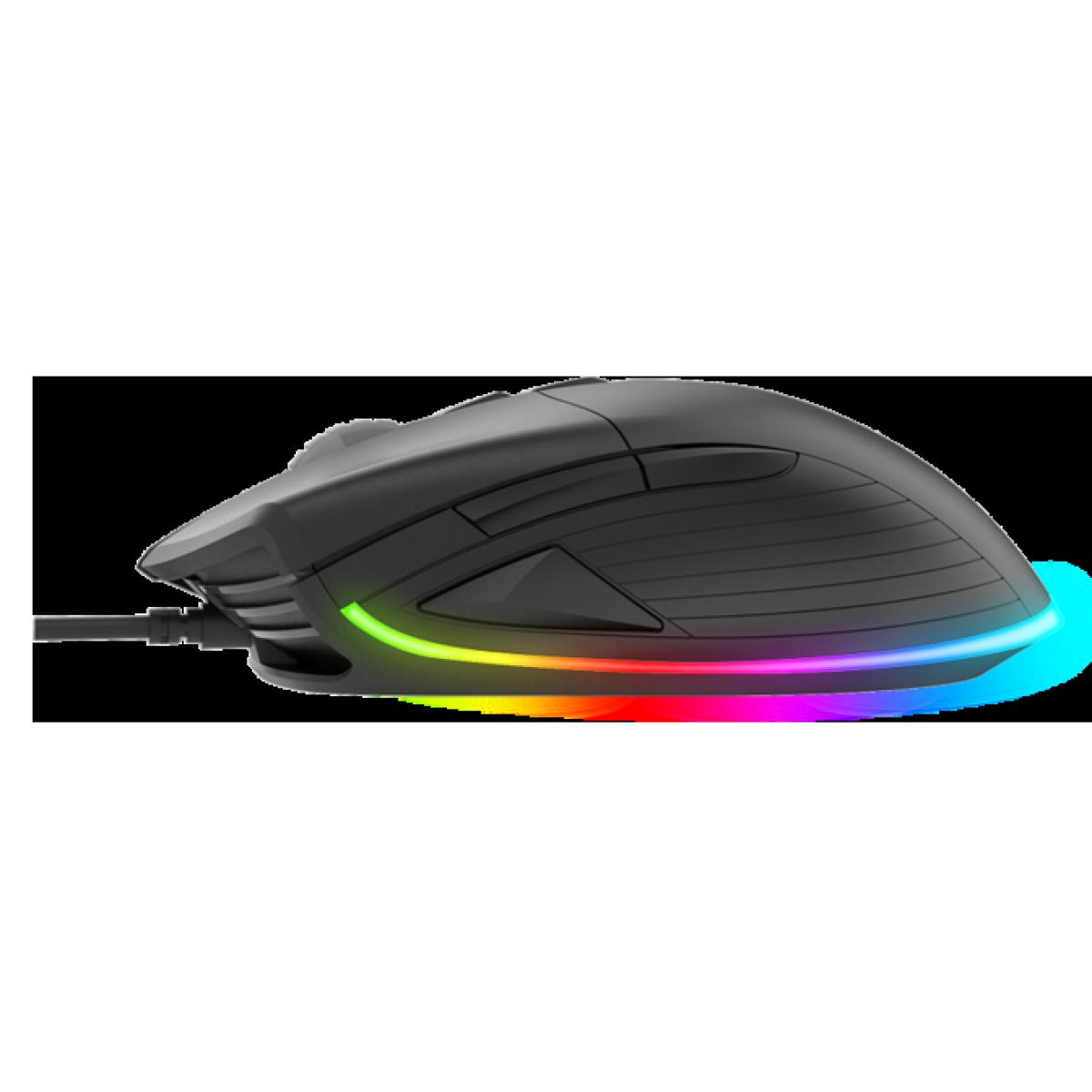 Mouse Gamer Fantech Hero UX1, 16.000 DPI, 8 Botões, RGB, Black