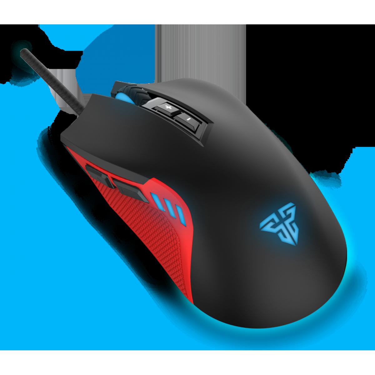 Mouse Gamer Fantech Phantom X15, 2.400 DPI, 7 Botões, RGB, Black