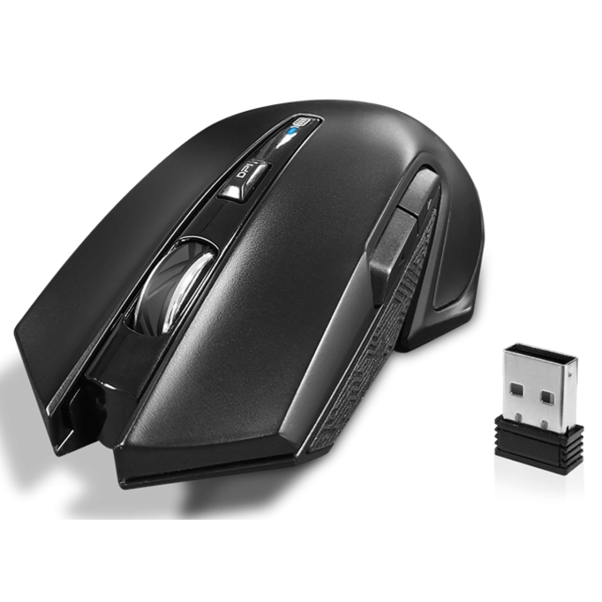 Mouse Gamer Wireless Fantech Venom WGC1, 2.400 DPI, 6 Botões, RGB, Black