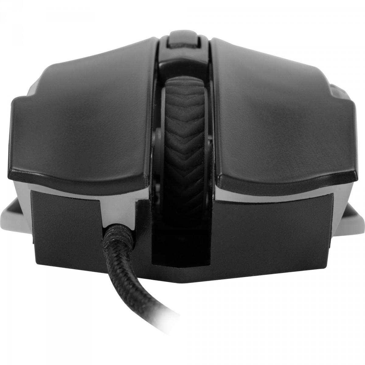 Mouse Gamer Fortrek Pro M5 RGB, 4800 DPI, 6 Botões, Black - Open Box