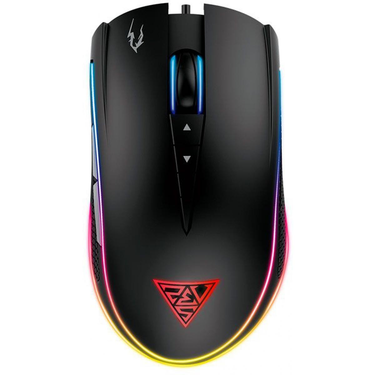 Mouse Gamer Gamdias Zeus M1 8 Botões Programáveis 7000 DPI RGB Preto