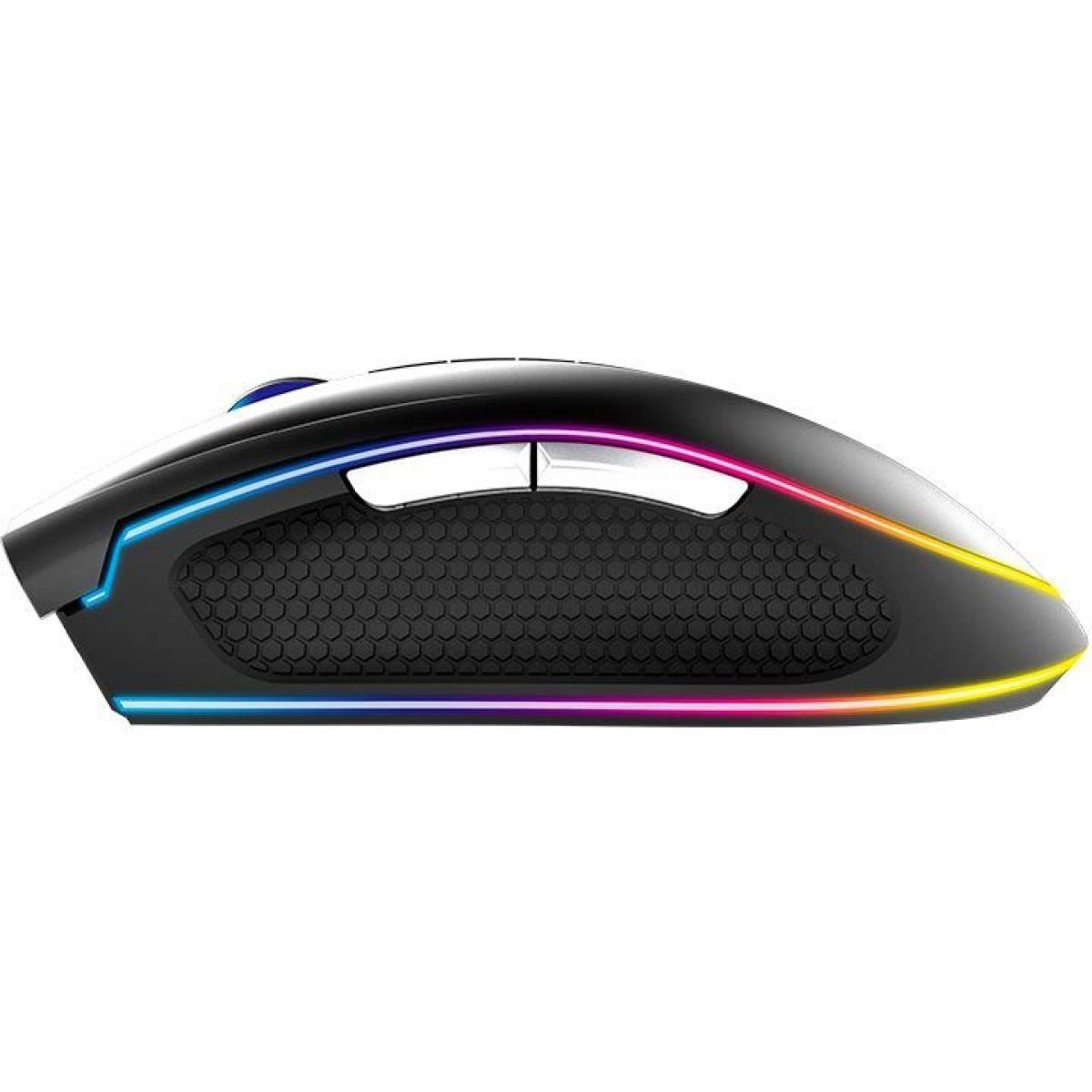 Mouse Gamer Gamdias Zeus P2 8 Botões Programáveis 16000 DPI RGB Preto