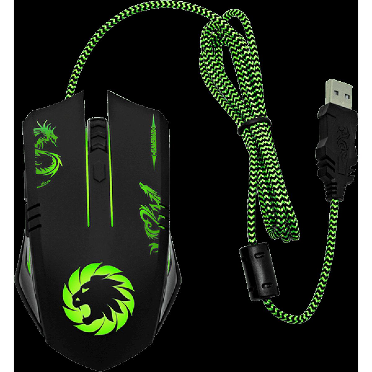 Mouse Gamer Gamemax MG386 3200 DPI Preto