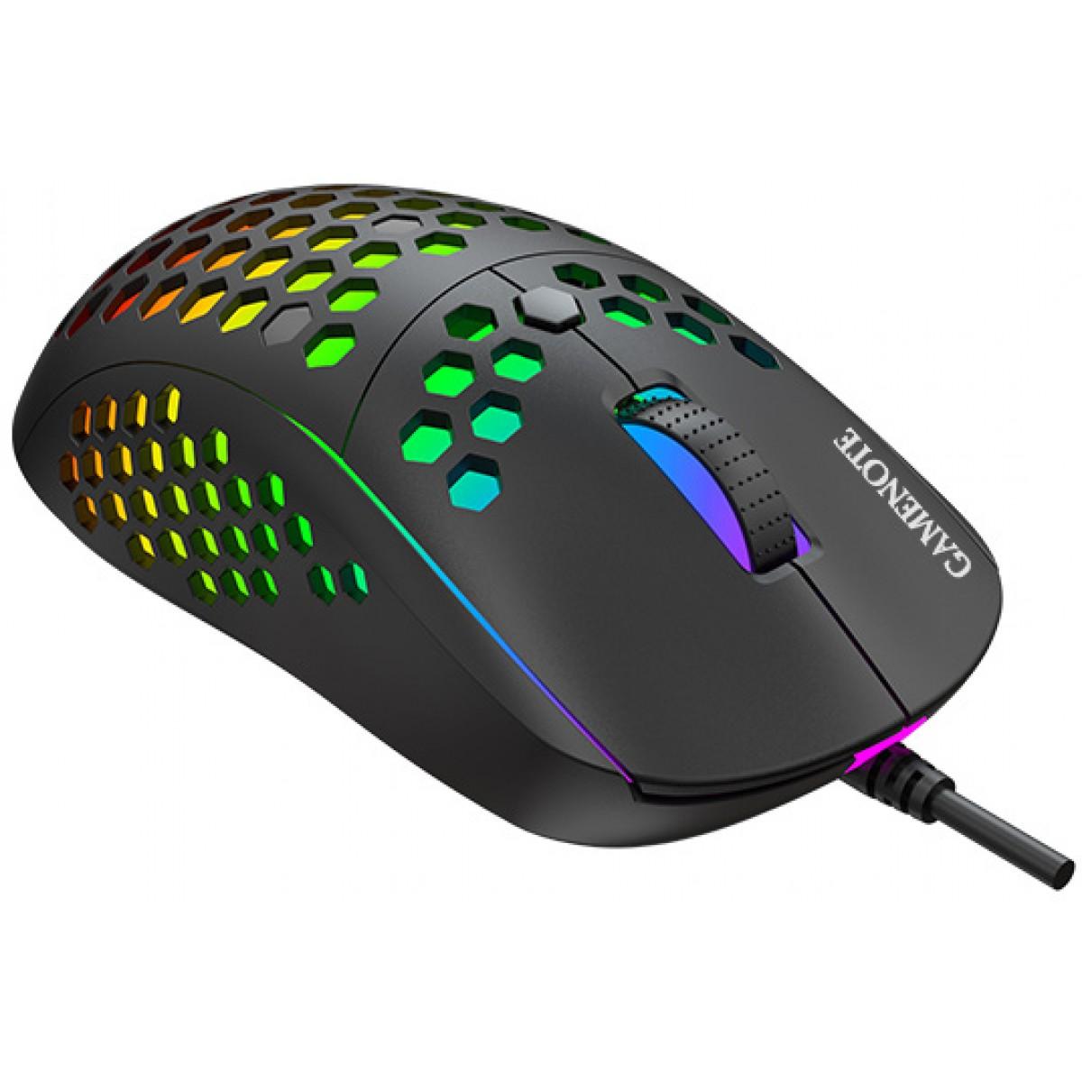 Mouse Gamer Havit Gamenote RGB, 10000 DPI, 7 Botões, Black