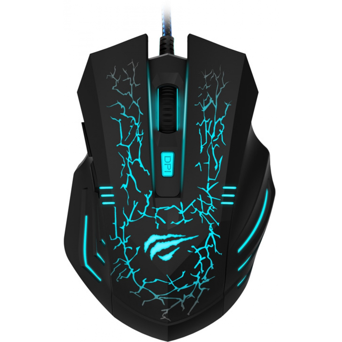 Mouse Gamer Havit Magic Eagle Lighting 6 Botões 2400 DPI Black