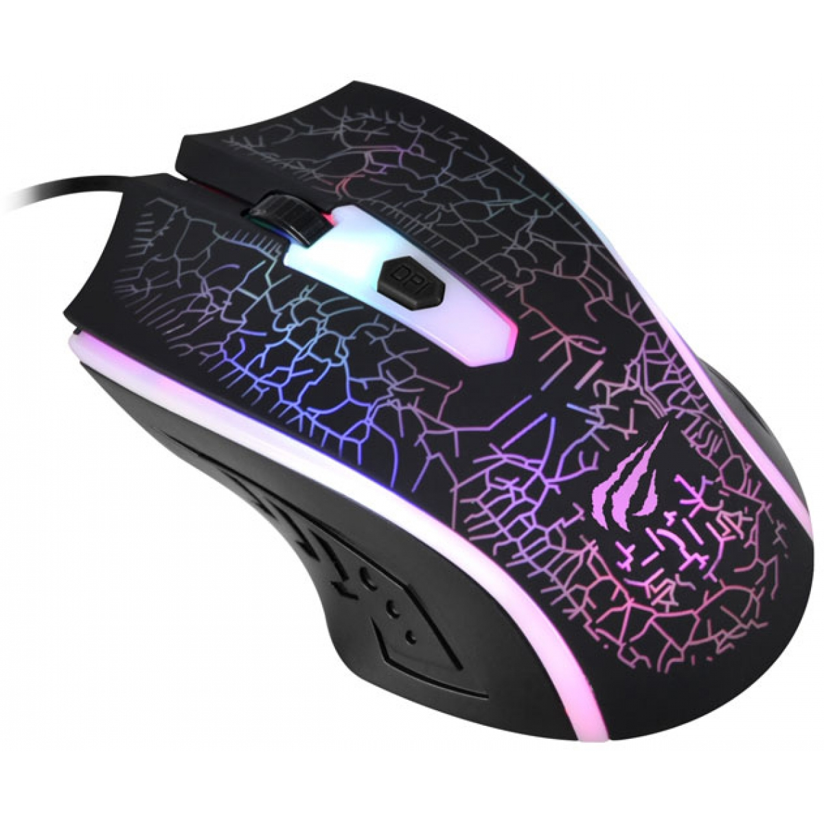 Mouse Gamer Havit Magic Eagle Optical 4 Botões 1200 DPI Preto