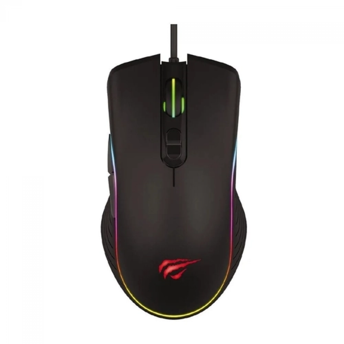 Mouse Gamer Havit MS1006, 3200 DPI, 7 Botões, RGB, Black, HV-MS1006