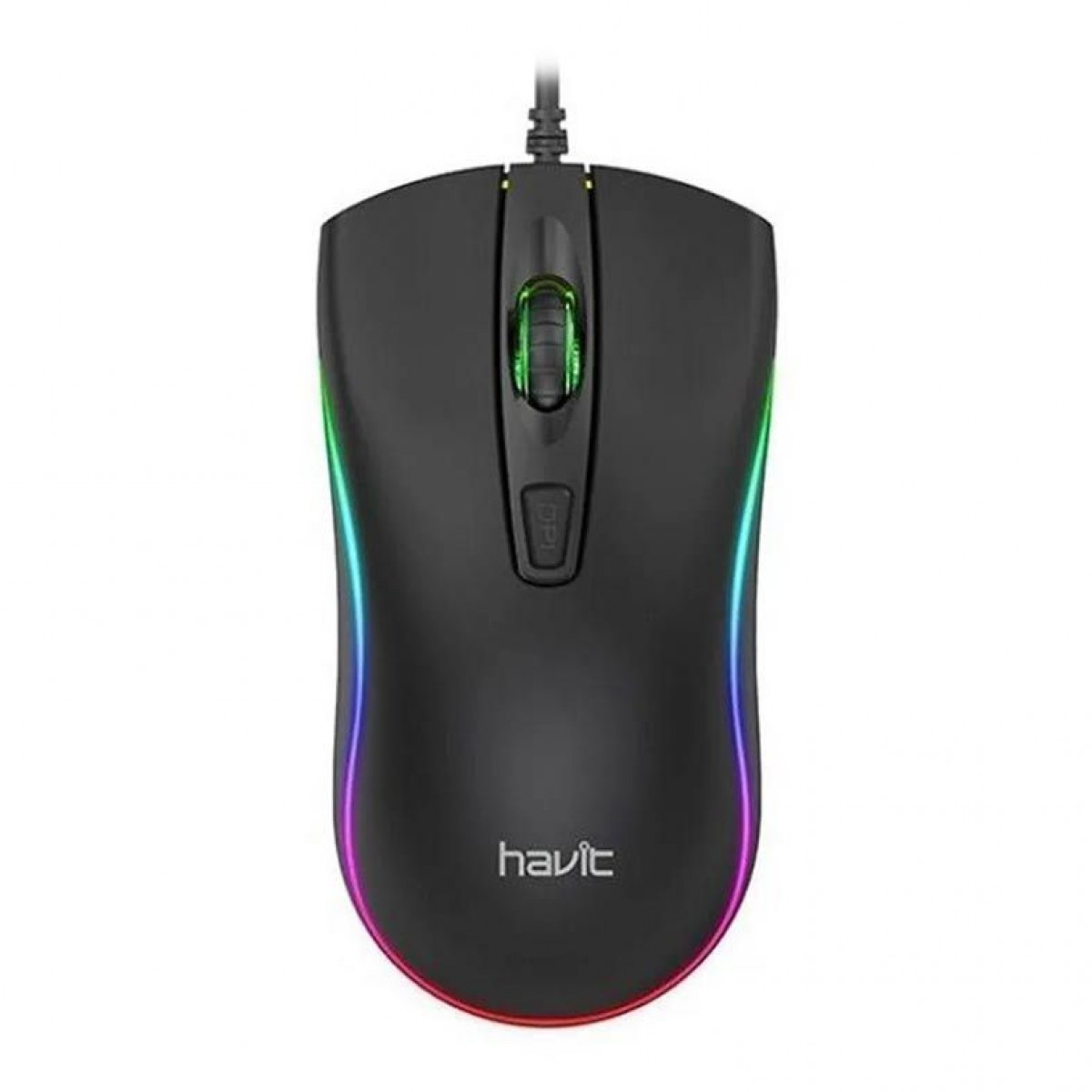 Mouse Gamer Havit MS72, 1200DPI, 4 Botões, RGB, Black, HV-MS72
