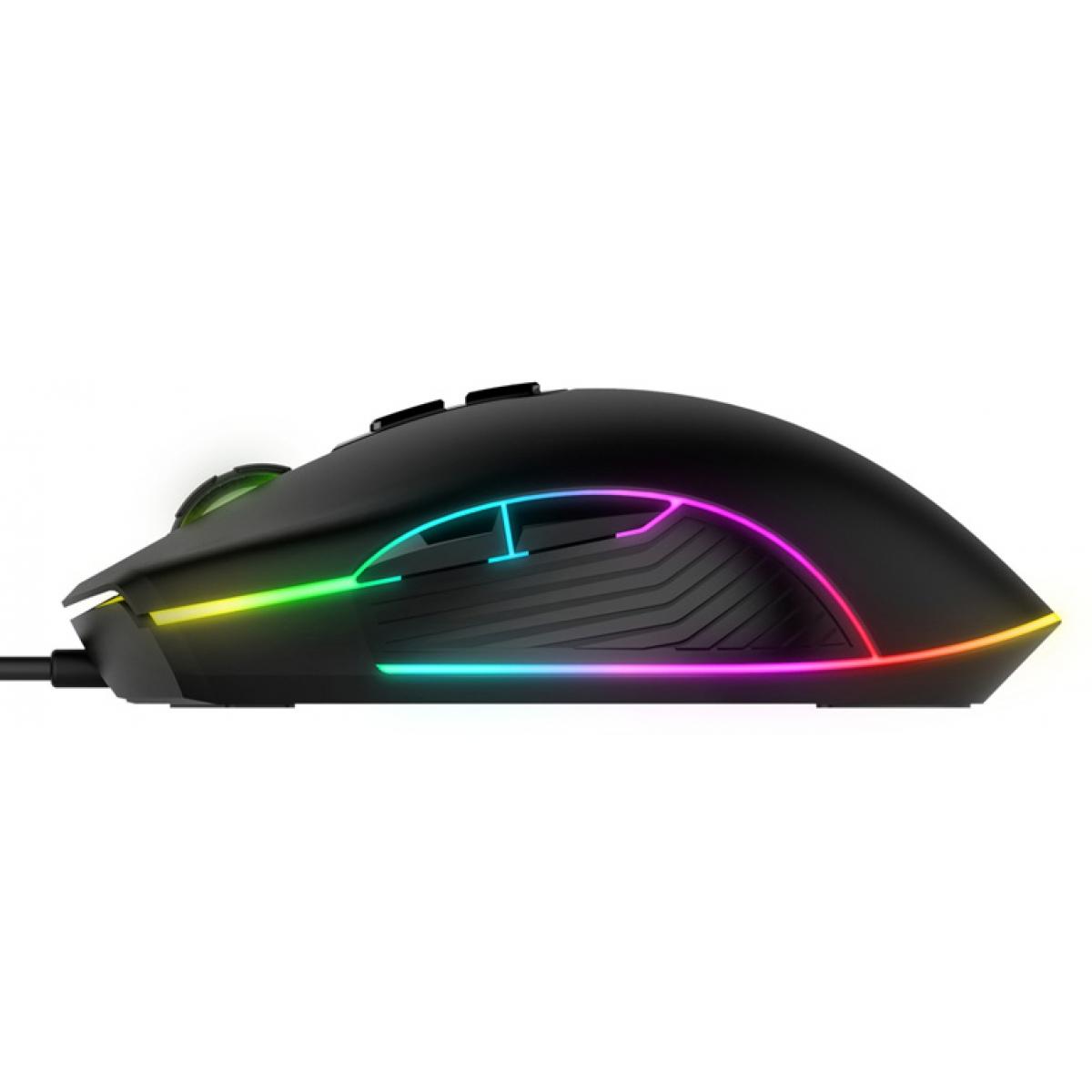 Mouse Gamer Havit MS877 RGB, 2400 DPI, 7 Botões, Black