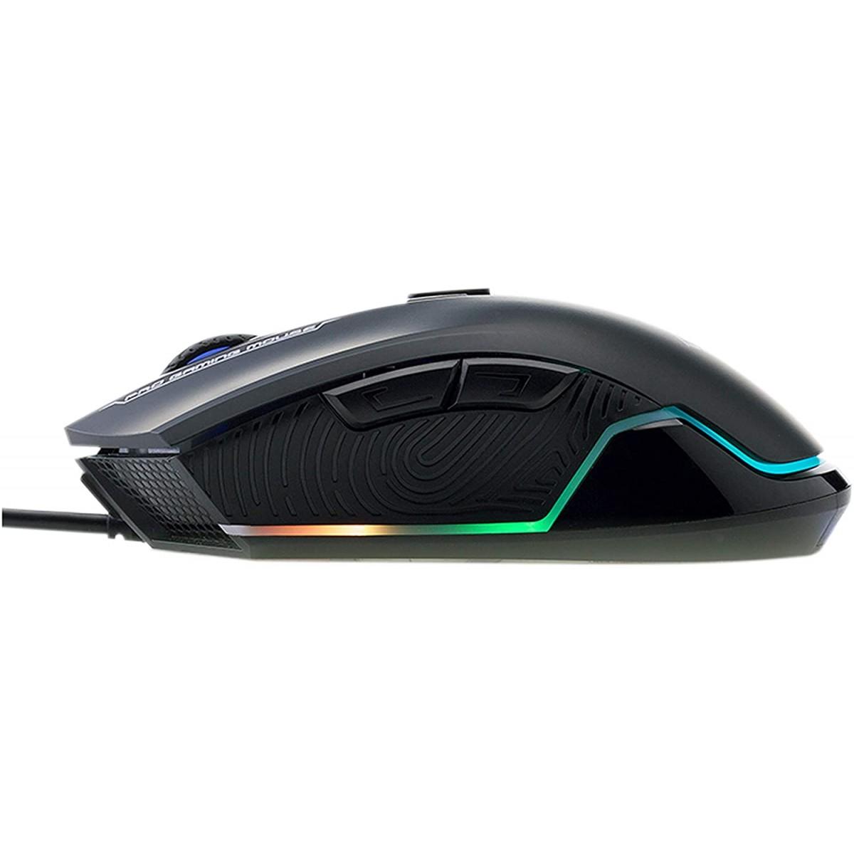 Mouse Gamer HP G360, 6200 DPI, LED, Black
