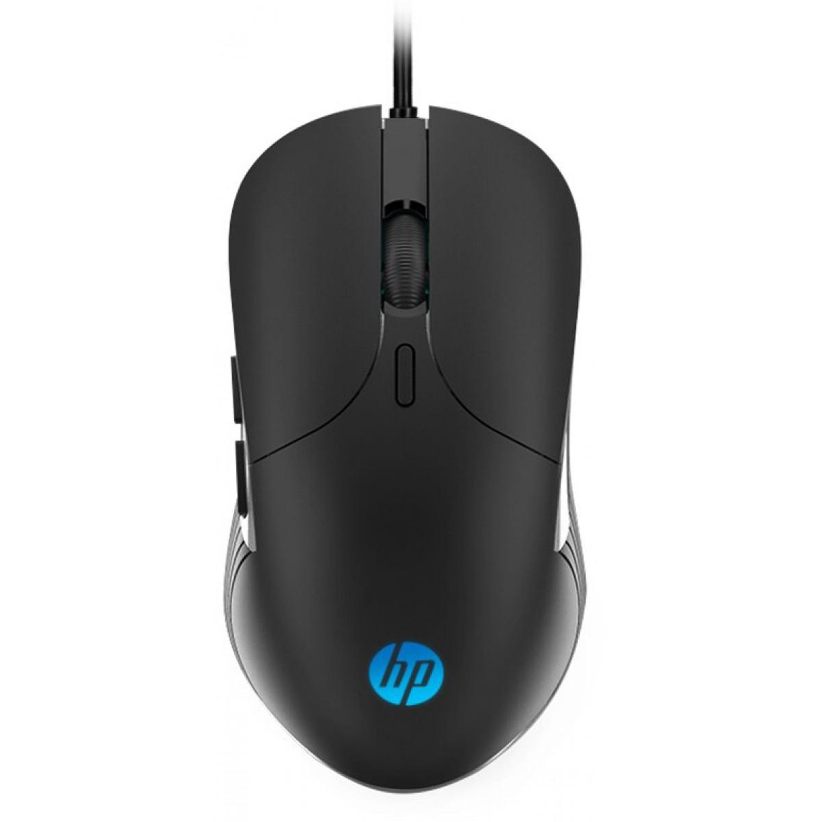 Mouse Gamer HP M280, 2400 DPI, LED RGB, 6 Botões Programáveis, Black