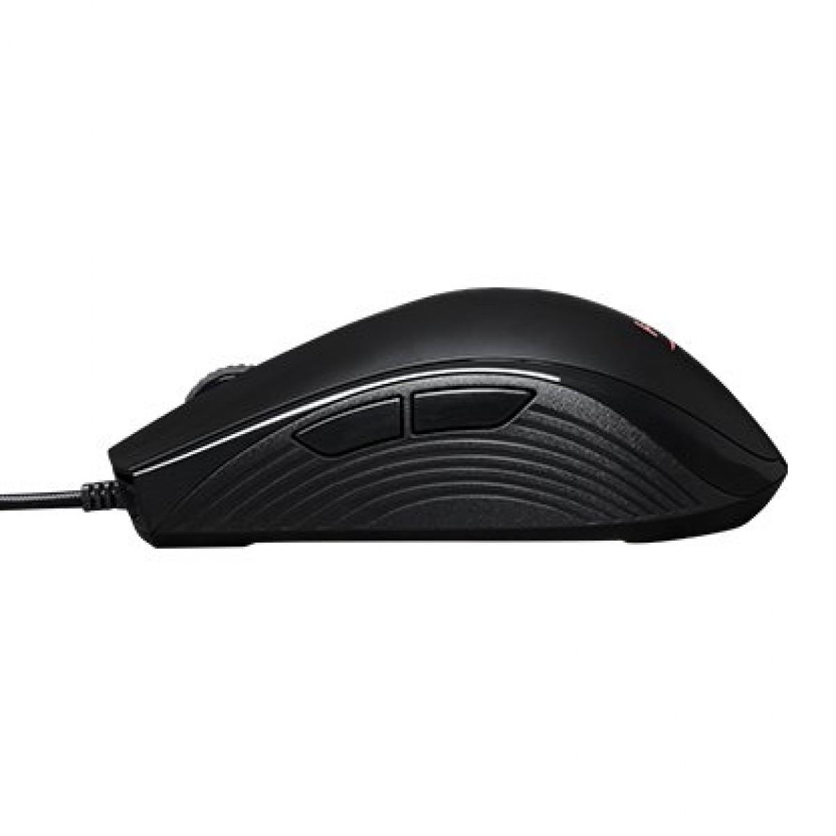 Mouse Gamer HyperX Pulsefire Core RGB, 6200 DPI, 7 botões programáveis, USB, Black