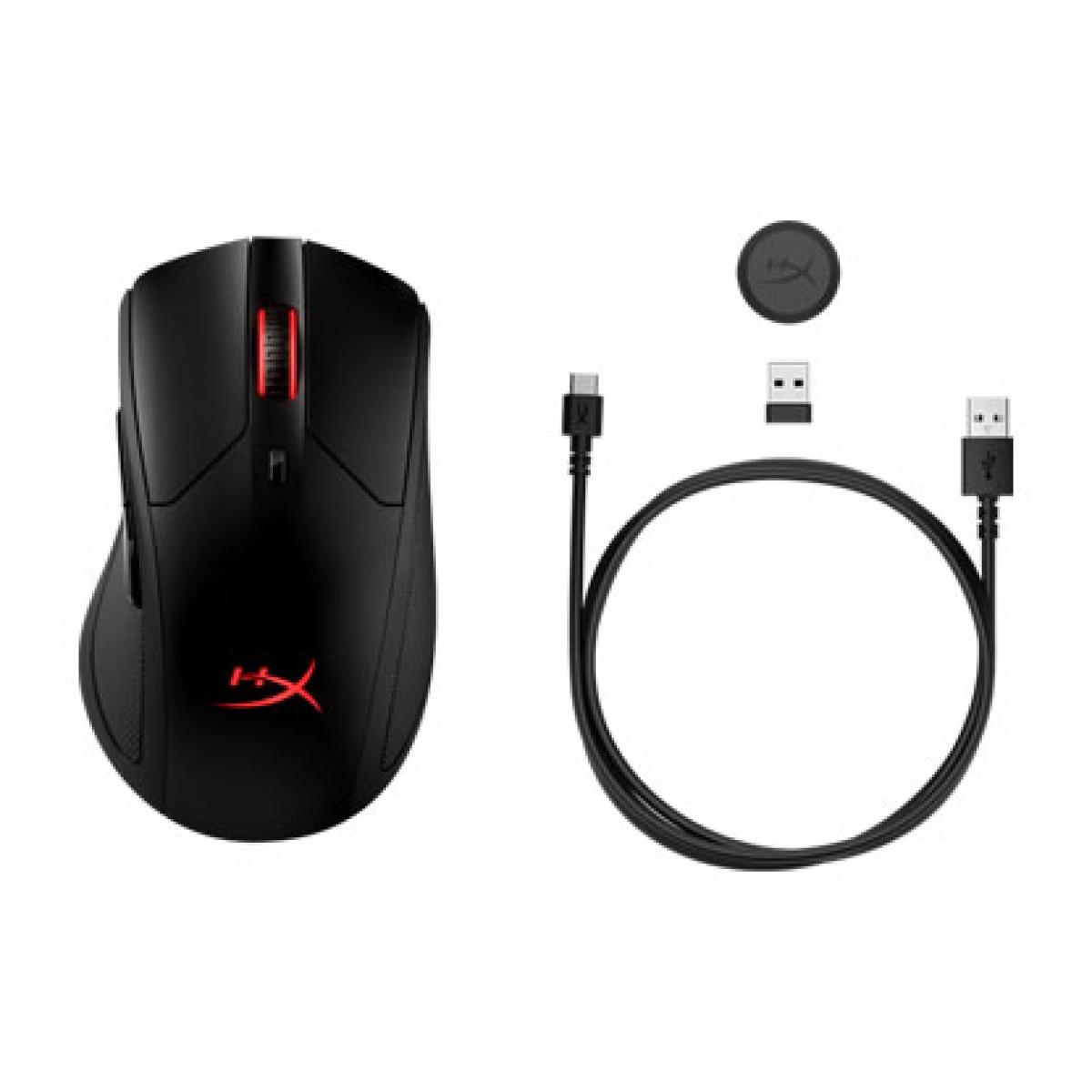 Mouse Gamer HyperX Pulsefire Dart Sem fio, 16000 DPI, 6 botões programáveis, USB, Black