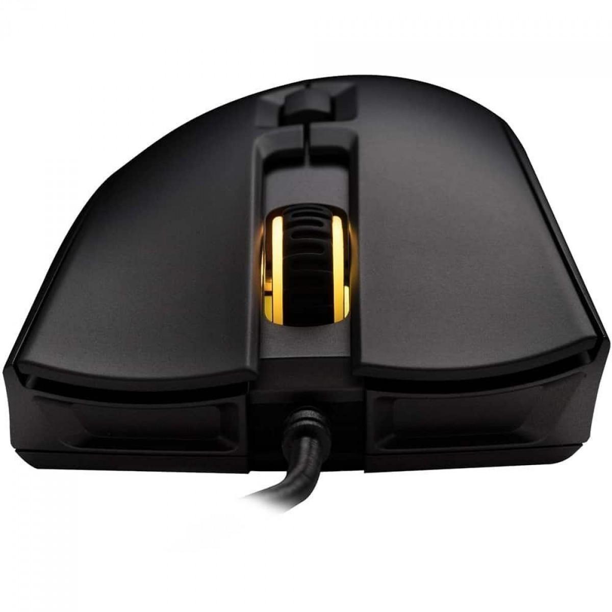 Mouse Gamer HyperX Pulsefire FPS PRO, RGB, 16000 DPI, 6 Botões, USB, Black, HX-MC003B