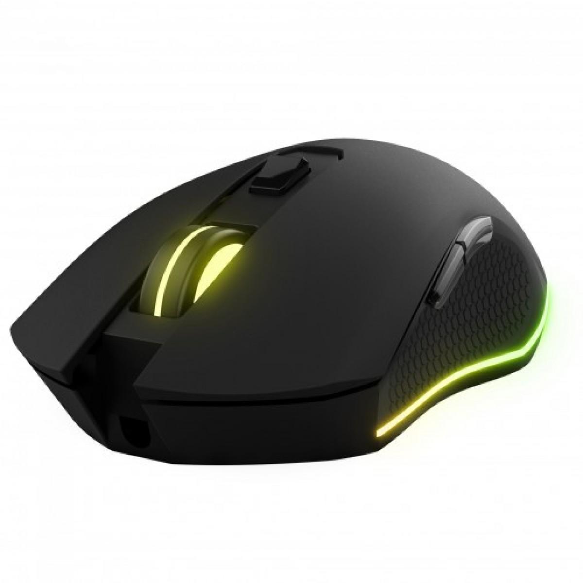 Mouse Gamer KWG Orion E2, 3200 DPI, 6 Botões, Black