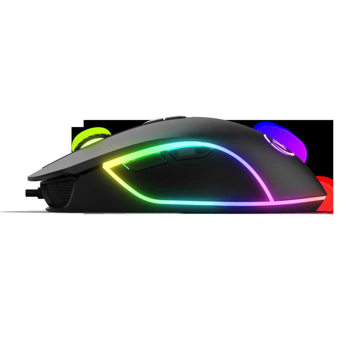 Mouse Gamer KWG Orion P1, 12000 DPI, 7 Botões, Black