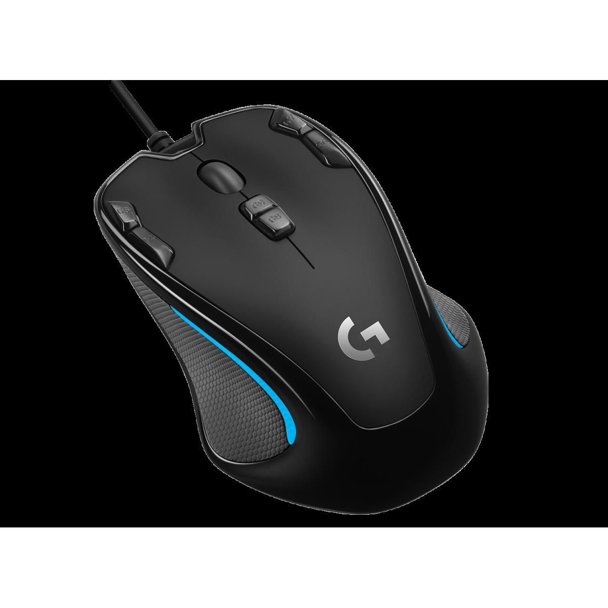 Mouse Gamer Logitech G300S, 9 Botões, 2500 DPI, Black