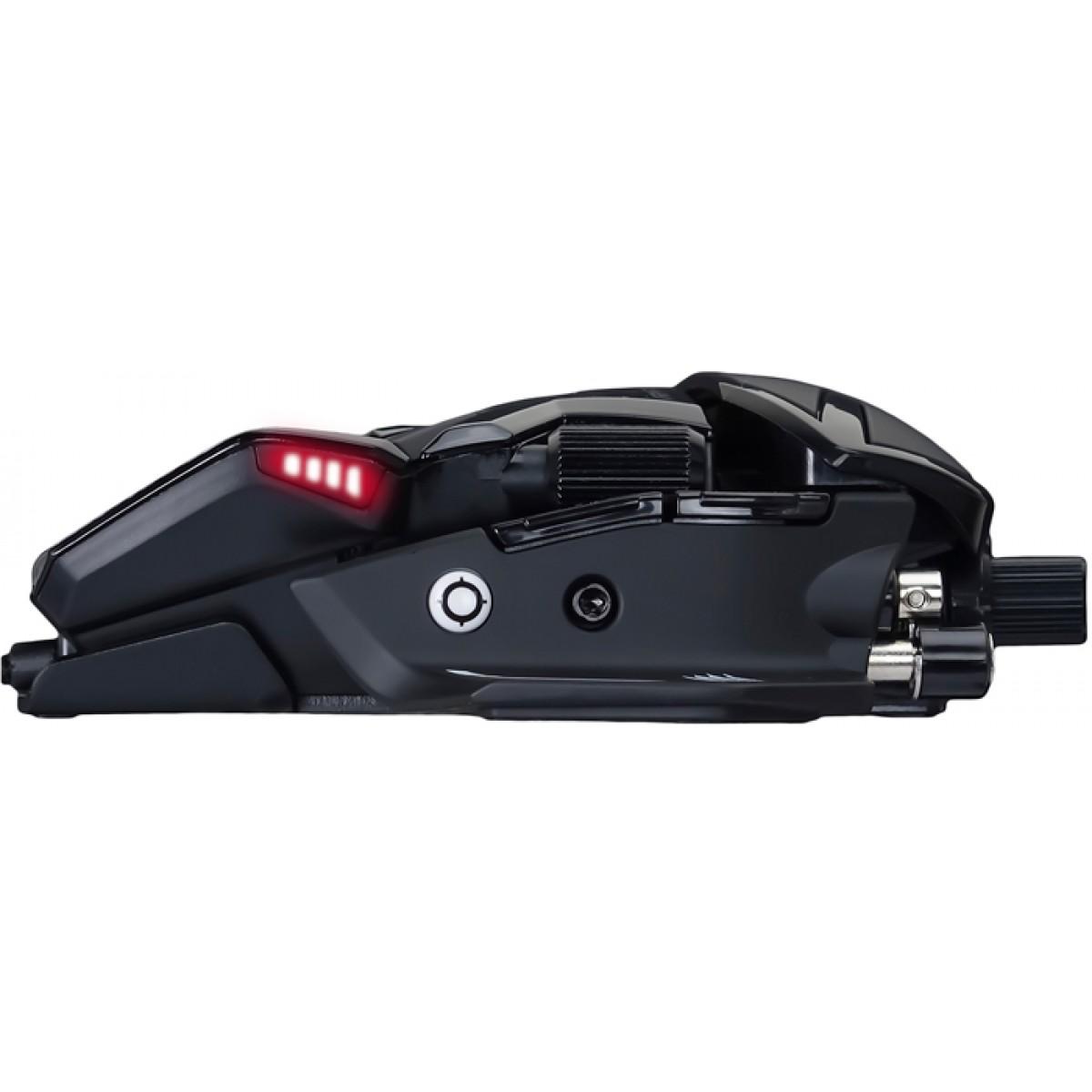Mouse Gamer Mad Catz RAT 8+, 16000 DPI, 11 Botões, Black, MR05DCAMBL00