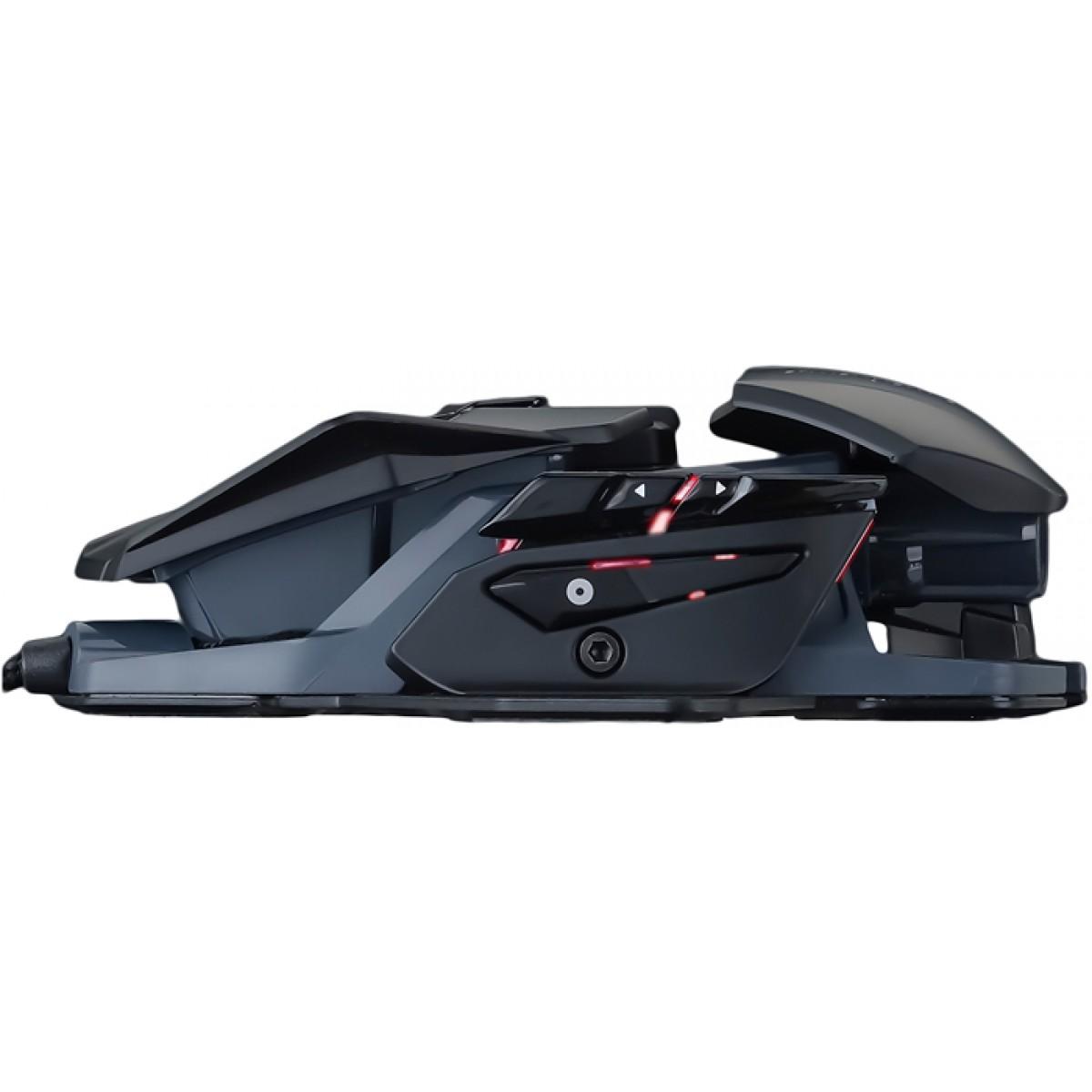 Mouse Gamer Mad Catz RAT Pro S3, 7200 DPI, 8 Botões, Black, MR03DCAMBL00
