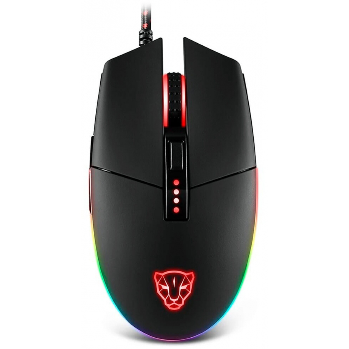 Mouse Gamer Motospeed V50 4000 DPI, RGB Backlight, Black, FMSMS0005PTO