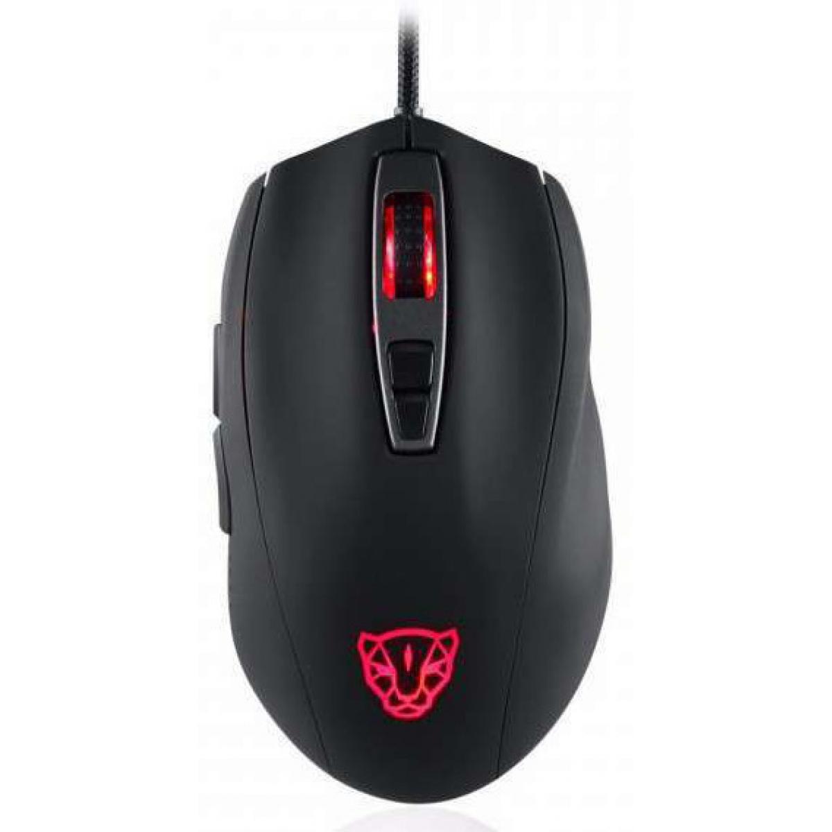 Mouse Gamer Motospeed V60 7 Botões 5000 DPI RGB, Black, FMSMS0006PTO