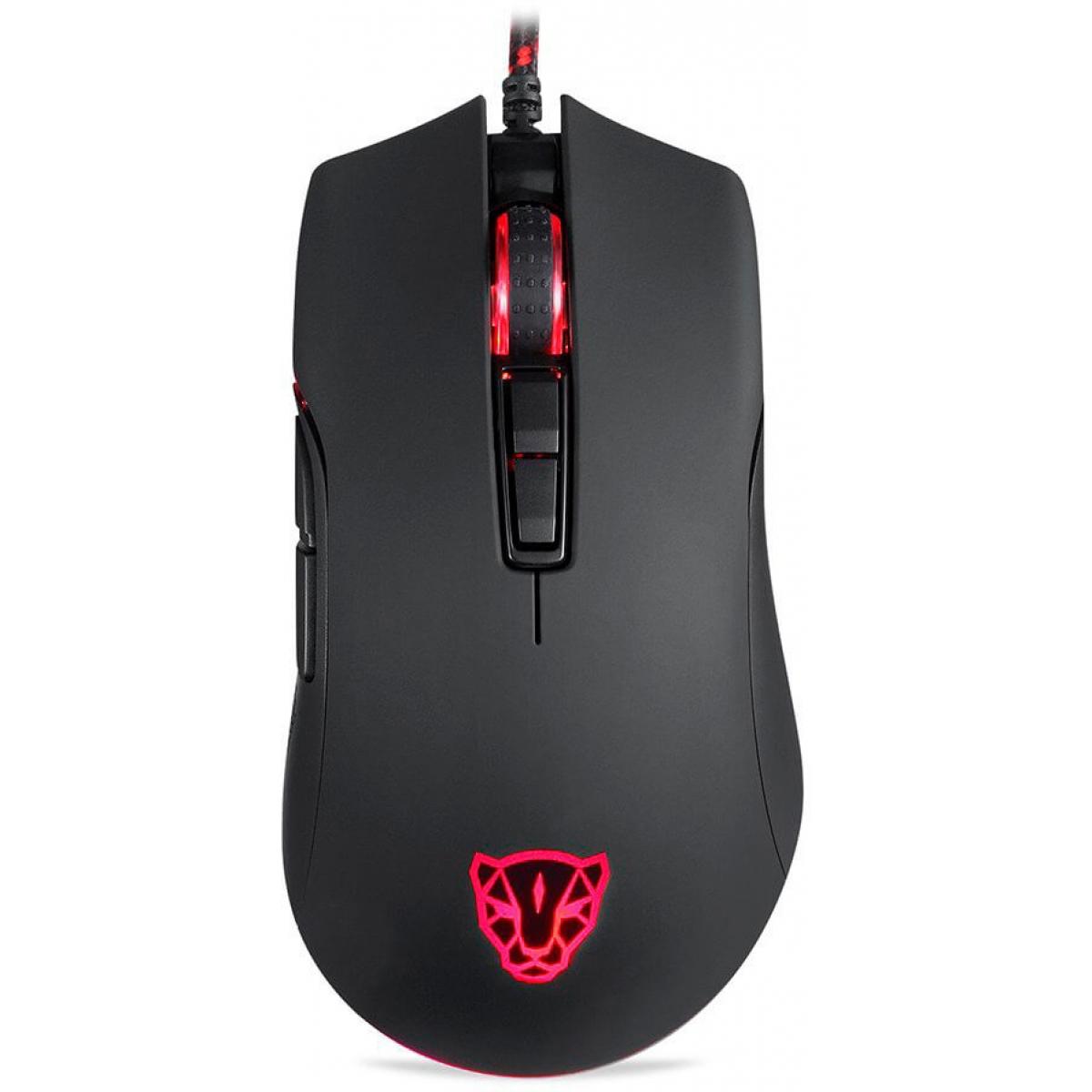 Mouse Gamer Motospeed V70 FMSMS0007PTO 7 Botões 12000 DPI RGB Backlight Black