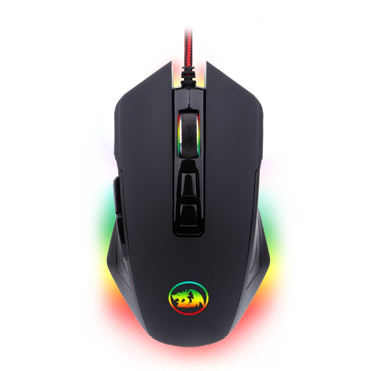 Mouse Gamer Redragon Dagger 2 RGB, 5000 DPI, 7 Botões, Black, M715RGB-1