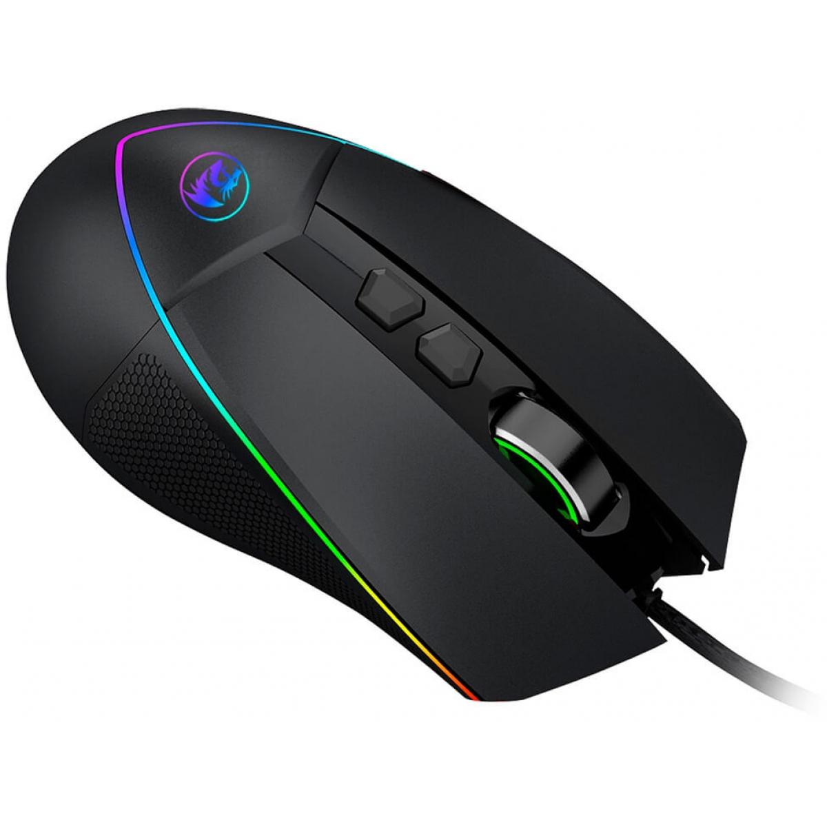 Mouse Gamer Redragon Emperor Chroma M909 RGB, 12400 DPI, 7 Botões Programáveis, Black