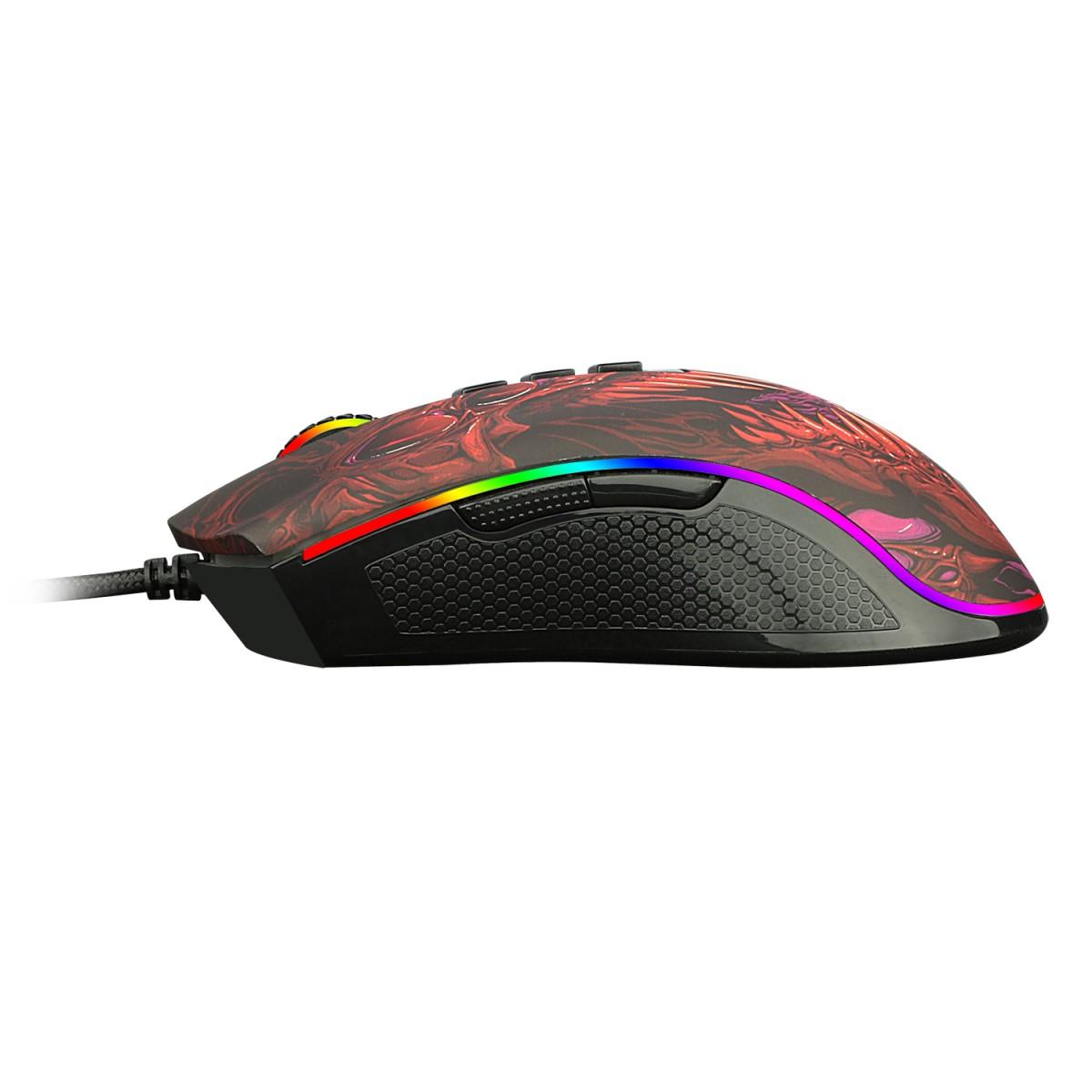Mouse Gamer Redragon Infernal RYU, 16000 DPI, 8 Botões, RGB, ID711