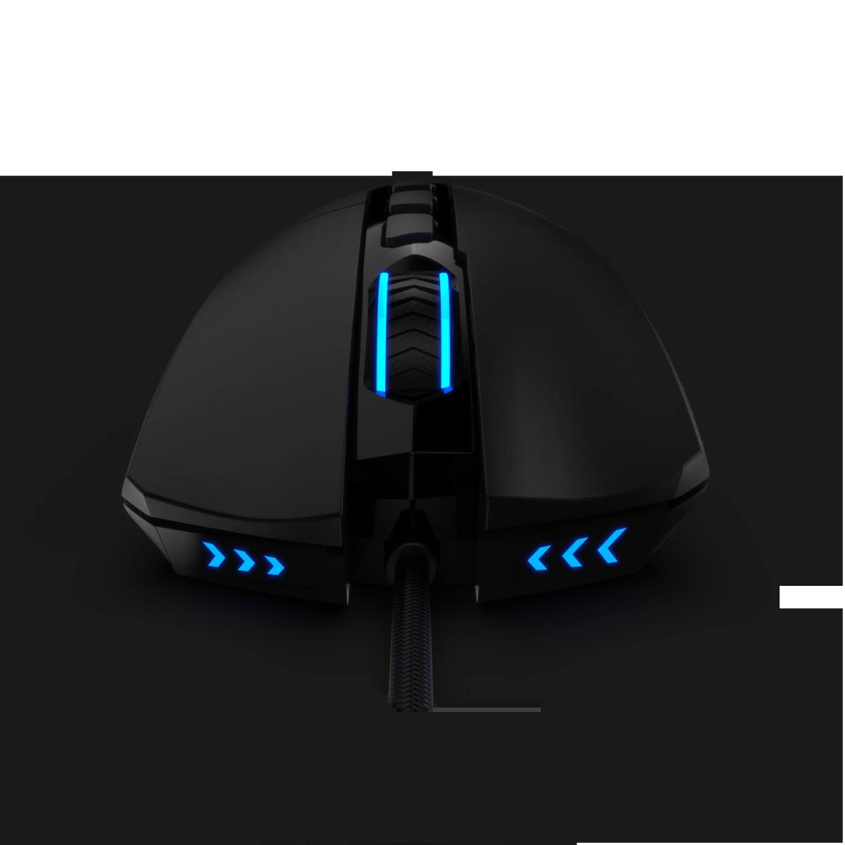 Mouse Gamer Redragon Lonewolf 2 Pro M721 RGB, 32000 DPI, 10 Botões Programáveis, Black