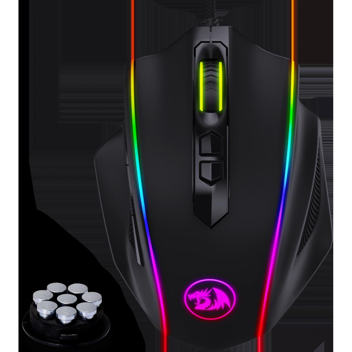 Mouse Gamer Redragon, M720 Vampire, RGB, 10000DPI, 8 Botões, Black, M720-RGB