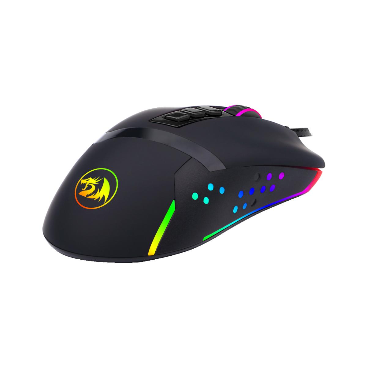 Mouse Gamer Redragon Octopus M712 RGB, 10000 DPI, 8 Botões Programáveis, Black