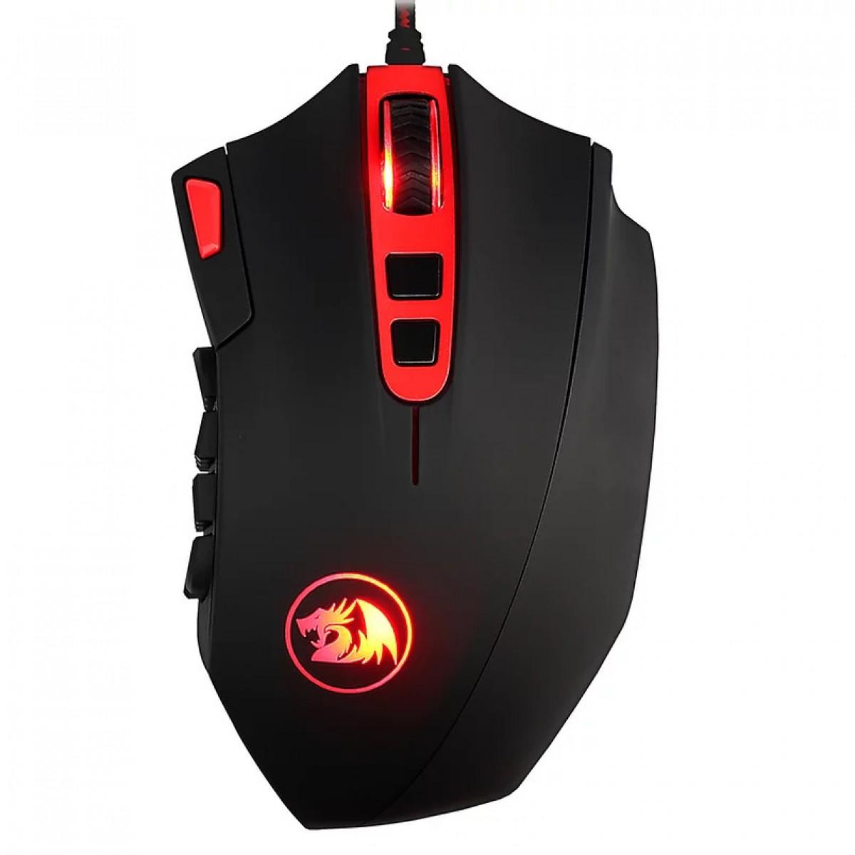 Mouse Gamer Redragon Perdition 3, 12400 DPI, 18 Botões, Black, M901-2
