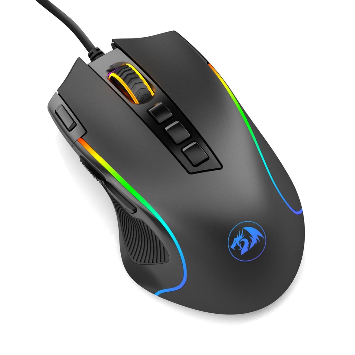 Mouse Gamer Redragon Predator RGB, M612-RGB