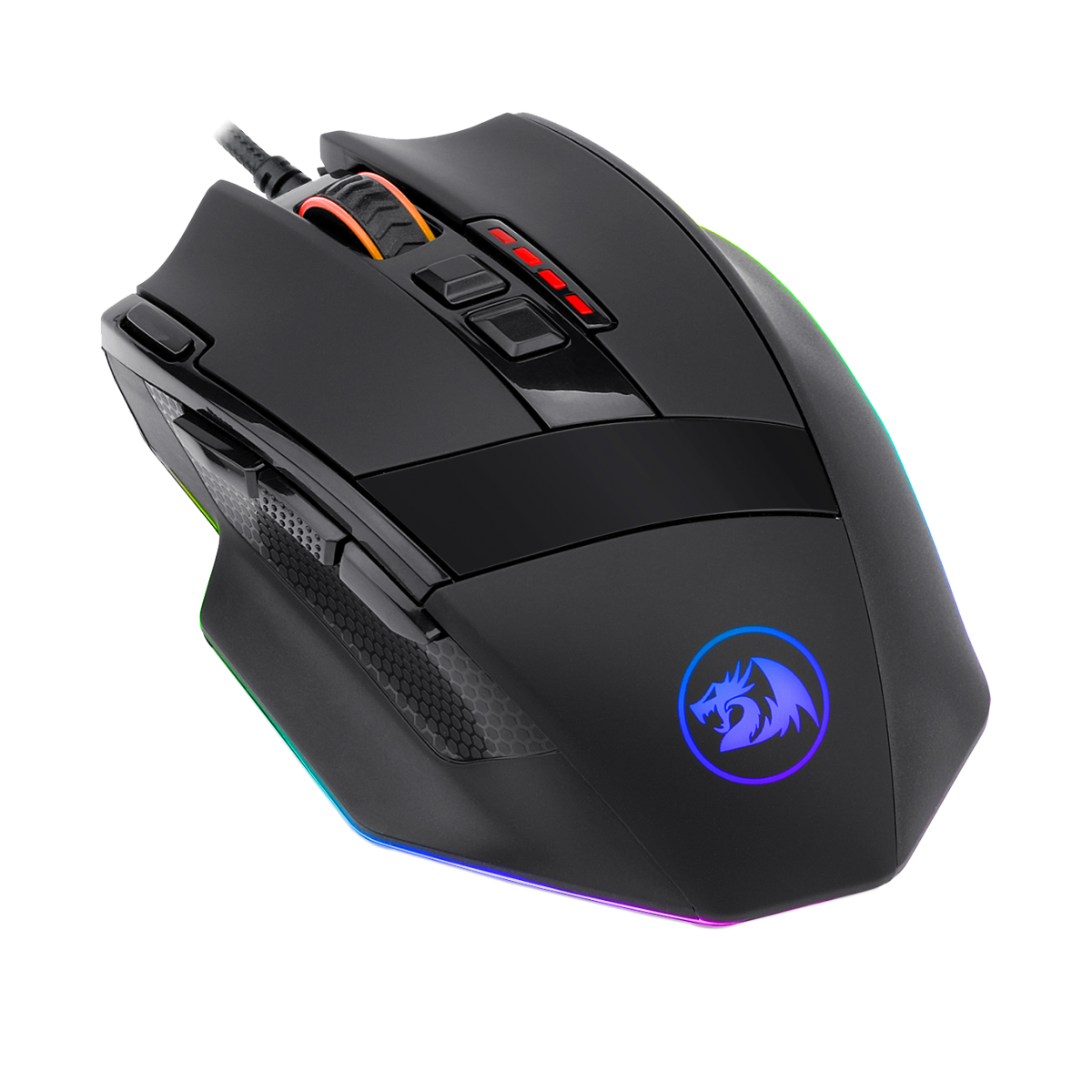 Mouse Gamer Redragon Sniper M801 RGB, 12400 DPI, 9 Botões Programáveis, Black