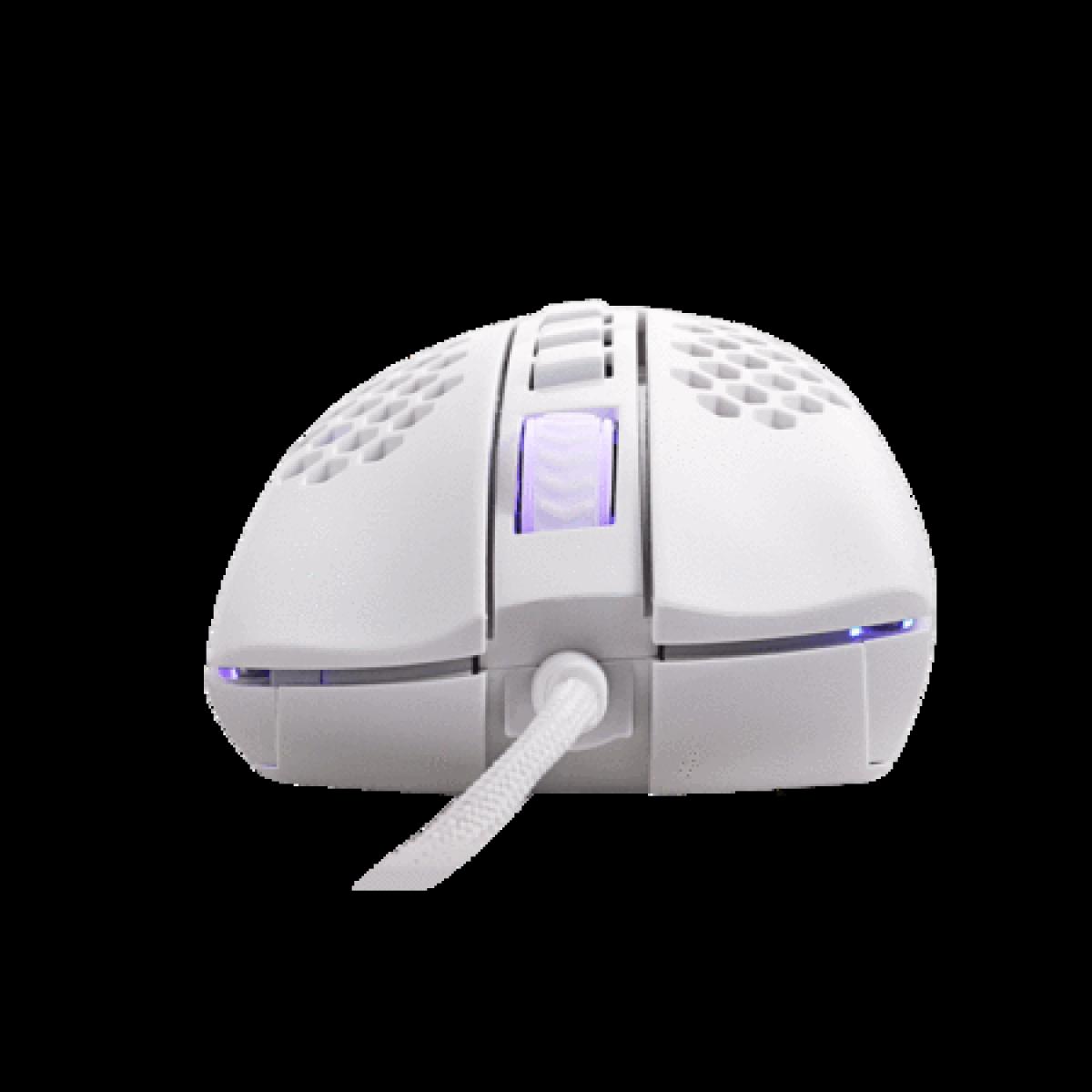 Mouse Gamer Redragon Storm Lunar White, 12400DPI, 7 Botões Programáveis, RGB, White, M808W-RGB