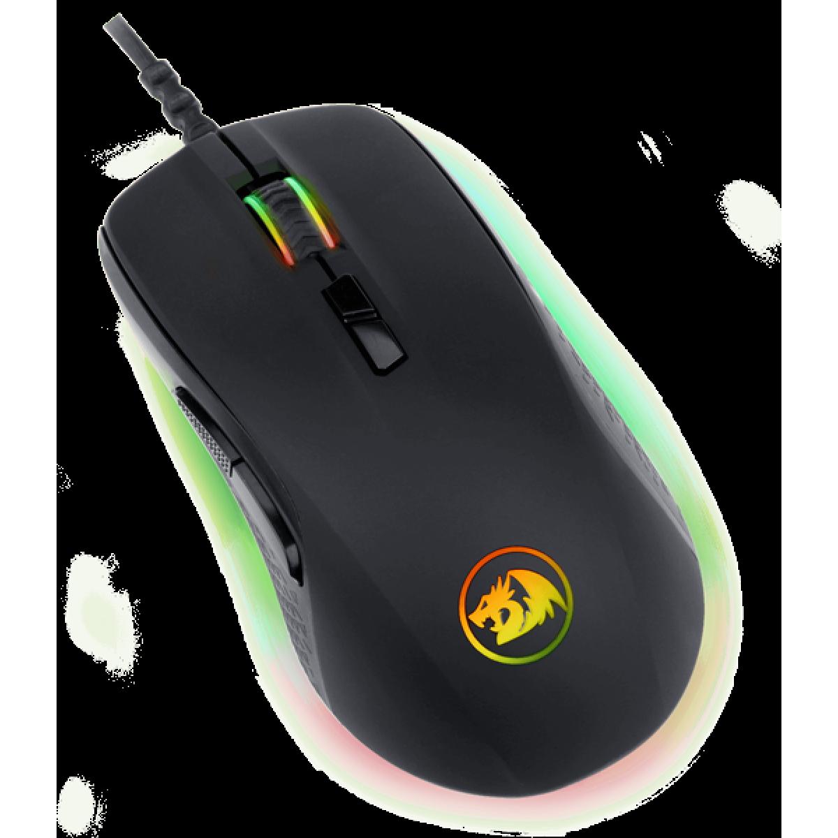 Mouse Gamer Redragon Stormrage M718 RGB, 10000 DPI, 7 Botões Programáveis, Black