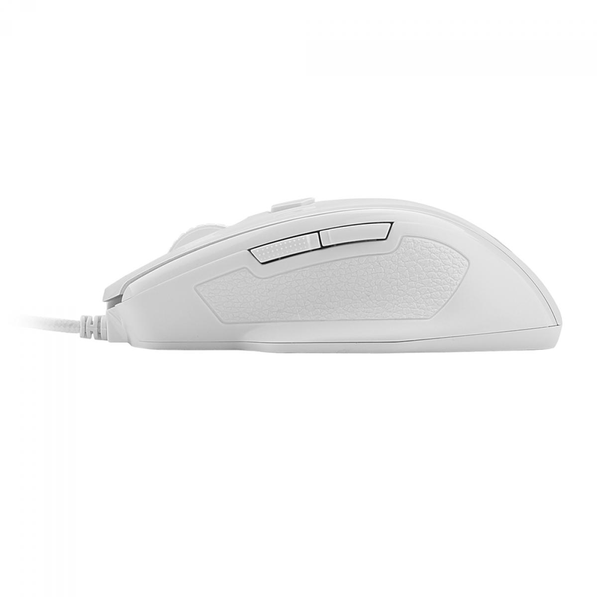 Mouse Gamer Redragon Tiger 2, 3200 DPI, 8 Botões, LED Vermelho, White, M709W