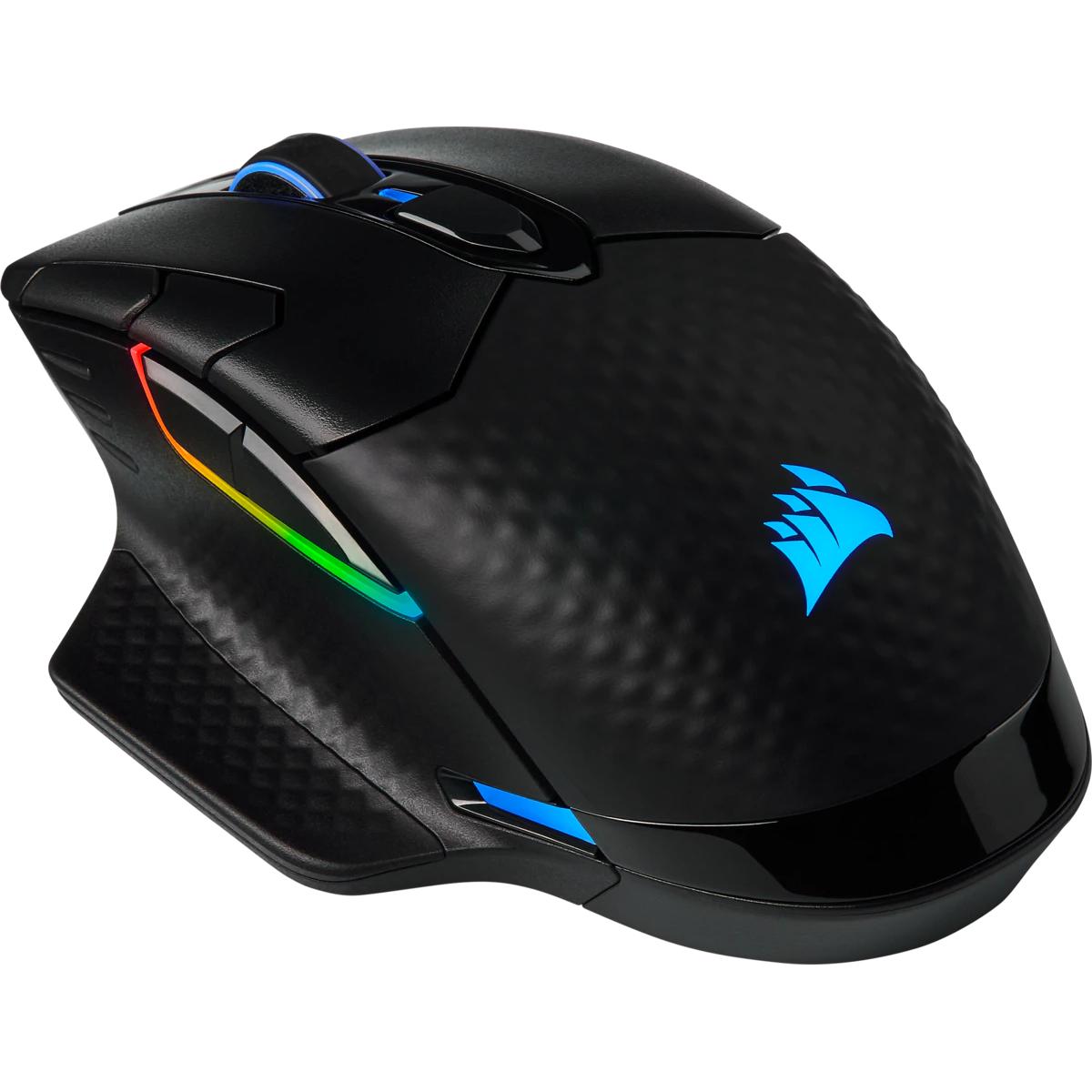 Mouse Gamer Sem Fio Corsair Dark Core RGB PRO SE, 18.000DPI, 8 Botões Programáveis, Black, CH-9315511-NA