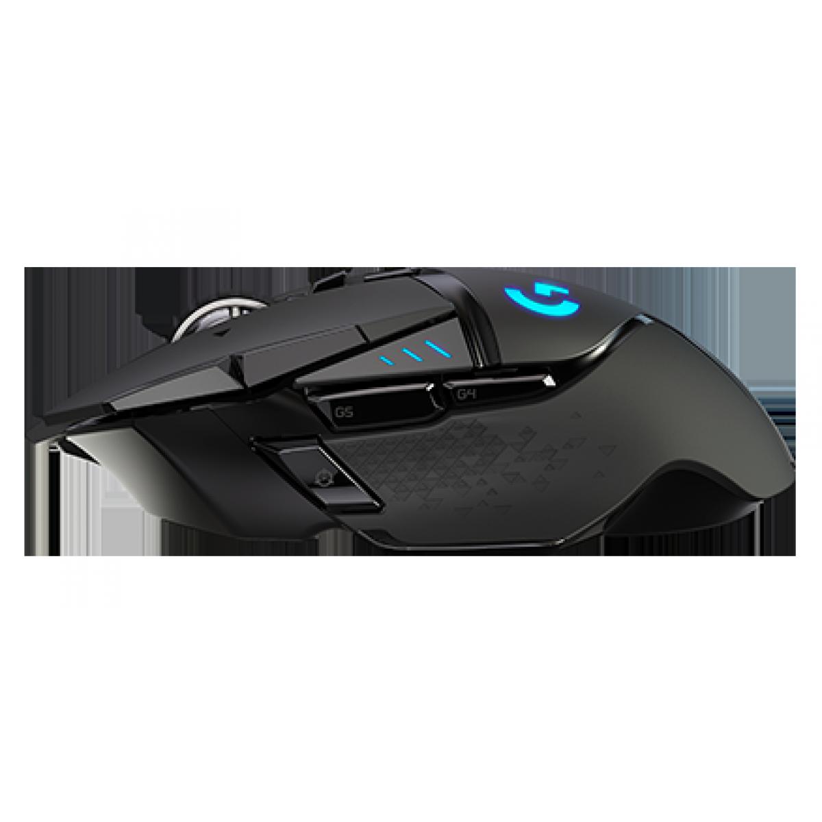 Mouse Gamer Sem Fio, Logitech G502 LIGHTSPEED, 910-005566
